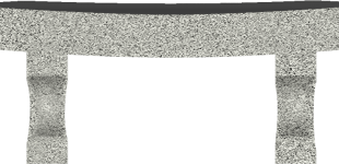 Curved Bench Dark Gray-min