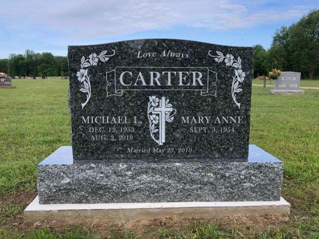 Custom cemetery memorials